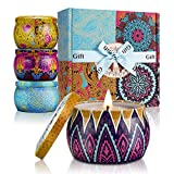 YMing Scented Candles Lavender, Lemon, Mediterranean Fig, Fresh Spring,Natural Soy Wax Portable Travel Tin...