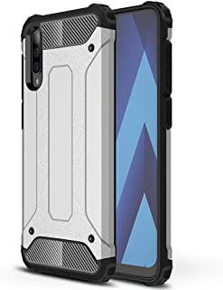 Galaxy A70 Case, EabHulie Dual Layer Heavy Duty Shockproof Rugged Hybrid Armor Protective Case Cover for Samsung Galaxy A70 Silver