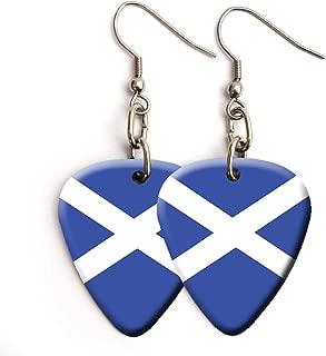 Scotland Flag Scottish Guitar Guitar pick plectrum Earrings
