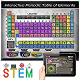 Interactive Laminated Periodic Table of Elements Chart for Kids – Included Augmented Reality Education App – STEM Toy Learning for Boys and Girls Aged 5, 6, 7, 8, 9, 10, 11, 12