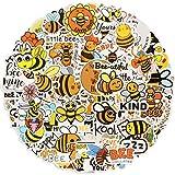 Paquete de Pegatinas [100 Piezas ] , Stickers Vinilo Graffiti Calcomanías Pegatina, Abeja Stickers para Coche, Bicicleta, Moto, Equipaje, Portátiles, Dormitorio, Funda de Viaje, Impermeable