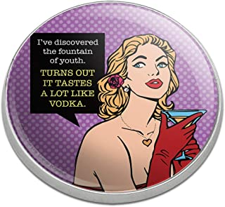 GRAPHICS & MORE Discovered Fountain of Youth Tastes Like Vodka Funny Humor Golfing Premium Metal Golf Ball Marker