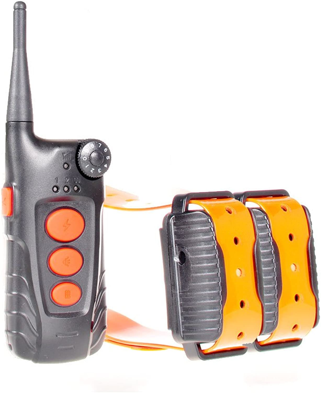 Aetertek 218C Remote Dog Pet Electric Shock Training Collar Submersible Rechargeable ECollar (for Two Dogs)