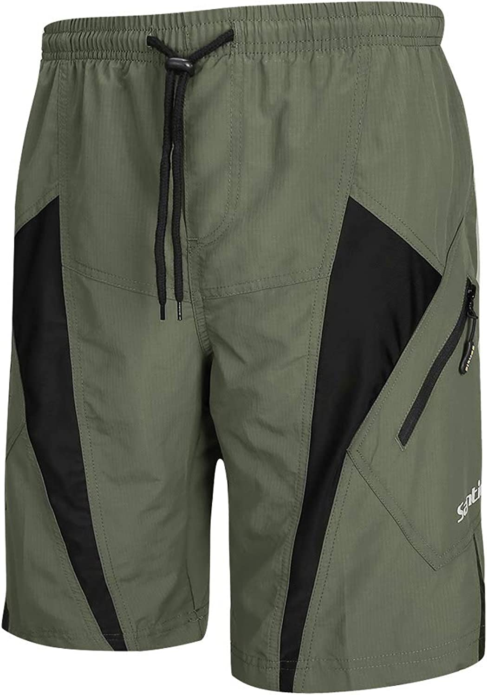 Santic Herren MTB Shorts Loose Fit Fahrrad Shorts 4D Gepolstert Grau