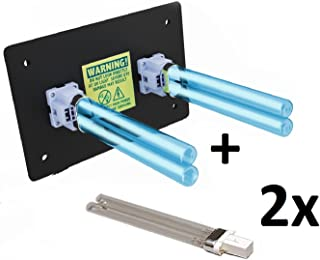 Air Purifier Whole House Uv Light in Duct for Hvac Ac (Air Conditioning) Duct Germicidal Filter + 2 replacement bulbs