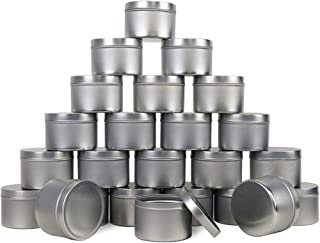 EricX Light Candle Tin 24 Piece, 8 oz, for Candle Making