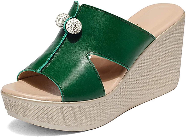 GEKX Women Open Toe High Heel Slippers Platform Wedge Sandals Women Fashion Slides Female shoes Size 34-43