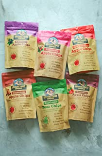 Sisters Fruit Company, Apple & Pear Chips, All Natural, No Preservatives, Fat-Free, Variety Pack (Six 2.25 OZ.Bags)
