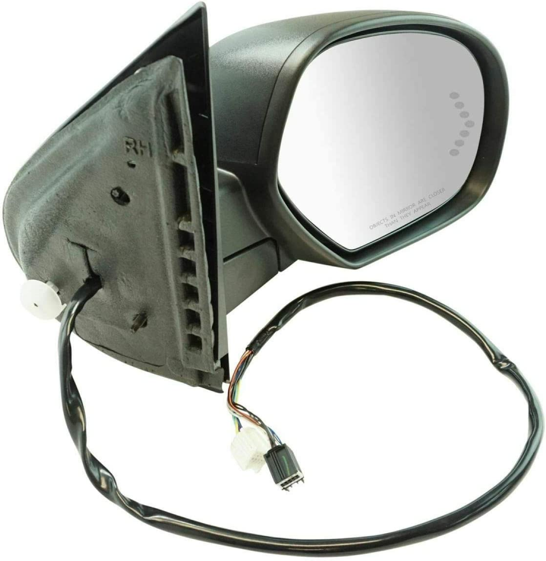 Branded goods Mirror Power Omaha Mall Folding Heated Signal Memory Textured Black Right R