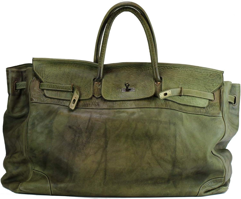 BZNA BZNA BZNA Bag Bella Grün Grün XXL vintage  Designer Big Weekender Wochenend Business Tasche Ledertasche Tasche Leder Shopper Neu B07H4V2Y6V ac432c