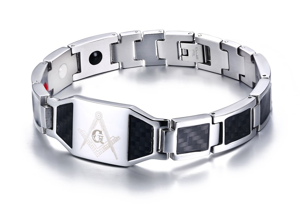 Mealguet Jewelry Stainless Freemason Bracelets