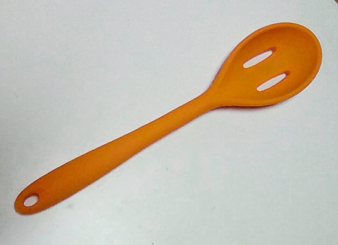 Core Kitchen Solid Silicone Slotted Spoon Mandarin