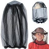 IHUIXINHE Mosquito Head Net, Malla de Protección de la Máscara de la Cara Anti-Mosquito Bee Insecto Fly Mask Hat para la Apicultura Apicultor de Pesca al Aire Libre, Repelente de Insectos Netting