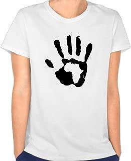 Duxa Women's Hand Print Africa Art Printing T-shirt