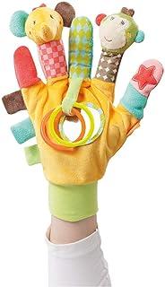 Fehn 074604 Spielhandschuh Safari – Fingerpuppen-Handschuh ab 0 Monaten