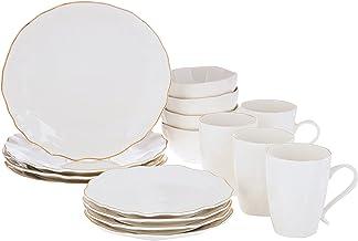 Certified International 23276RM Elegance 16 piece Dinnerware Set, Service for 4, Multicolored