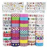 Baozun Washi Tape 50 Rolls Washi Masking Tape Dekorative Klebeband DIY Papier Tape