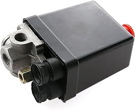 125 PSI 220V r/égulateur de soupape de compresseur dair r/égulateur de pression standard de lUE Pressostat de compresseur dair collecteur dinterrupteur jauge de contr/ôle pour manom/ètres