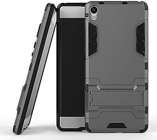 MaiJin Funda para Sony Xperia XA (5 Pulgadas) 2 en 1 Híbrida Rugged Armor Case Choque Absorción Protección Dual Layer Bumper Carcasa con Pata de Cabra (Gris)