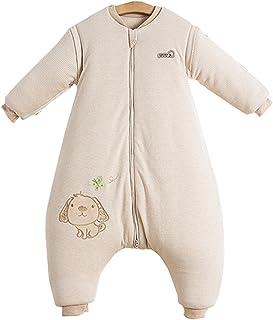 Baby Schlafstrampler Schlafoverall Baumwolle ohne Fu/ß Einteiliger Langarm Schlafanzug Kleinkinder Strampelanzug Pyjama mit Knopf Winter Dick Warm Unisex f/ür 0-24 Monate