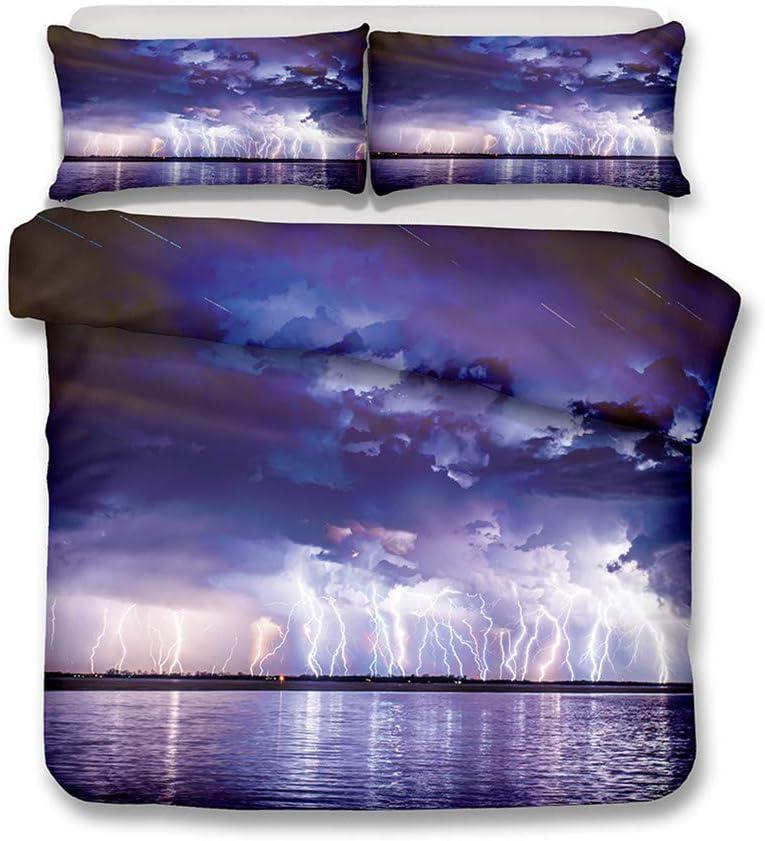 返品不可 LanS Tornado Lightning Duvet Cover Set ブランド買うならブランドオフ and P Bedding