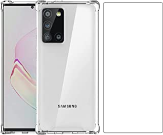 Case for Samsung Galaxy Note 20 Ultra Cover with Galaxy Note 20 Ultra Tempered Glass Screen Protectors, Shockproof Anti-Sc...