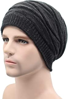Sunshinejourney Winter Beanies Knitted Hats Warm Bonnet Caps Baggy Solid Thicken Fur Soft Skull