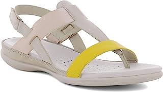ECCO Womens Flash Toe-Post Sandal, Merigold/Gravel/Rose Dust, 11-11.5