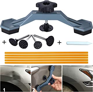 Manelord Auto Body Paintless Dent Repair Tool, Car Dent Puller with Bridge Dent Puller, Glue Puller Tabs for Car Dent Removal, Door Dings and Hail Damage Repair, Minor Dent Removal