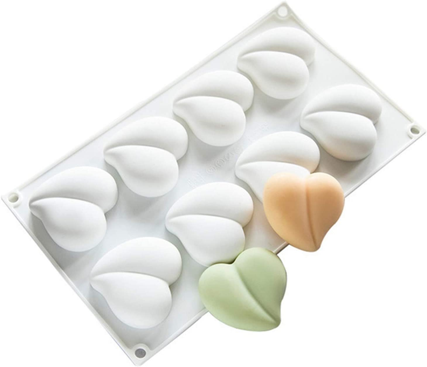 CGRTART Soap Base 8 Cavity Peach DIY Silicone Max 45% OFF Mold Manufacturer OFFicial shop Handmad Heart