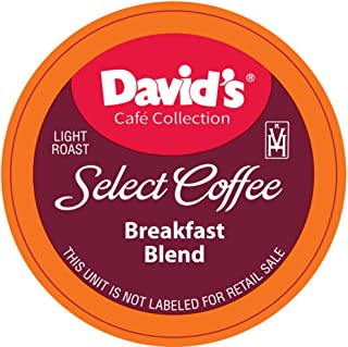 David's Café Collection, Breakfast Blend, Single Serve Cup 100Count (Compatible With 2.0 Brewers)