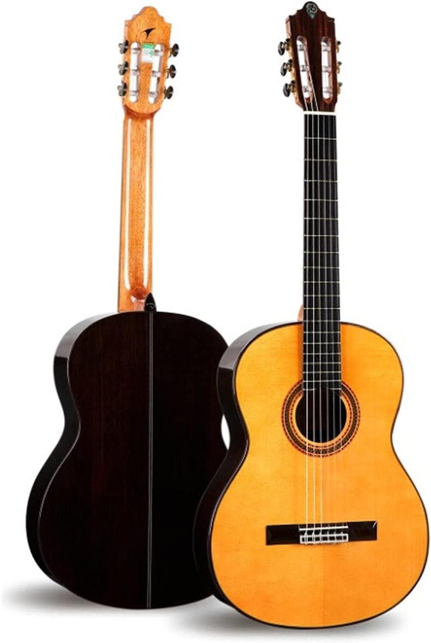 YYYSHOPP Guitarra Panel de Abeto sólido, Laminado de Palisandro en Ambos Lados y Espalda, 39