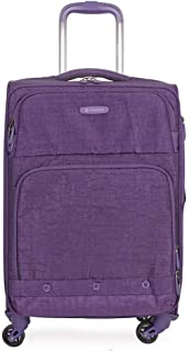 Business Trolley Universal Wheel Luggage, Nylon 24 Inch Boarding (Color : Purple, Size : 20-inch)