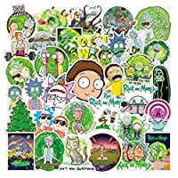 DRABALL Calcomanías[100-Pcs]Rick and Morty adhesivos para vinilos para laptop,Vinilos para portátiles, botellas de agua, equipaje, monopatín,PS4,Iphone, los mejores regalos para adultos, adolescentes