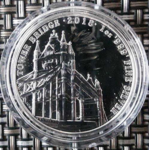 1 Unze Silber Tower Bridge Royal Mint Silbermünze 1 oz Münze in Kapsel