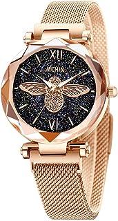 Jechin Women's Starry Sky Watch Woman Magnetic Buckle Bracelet Watches