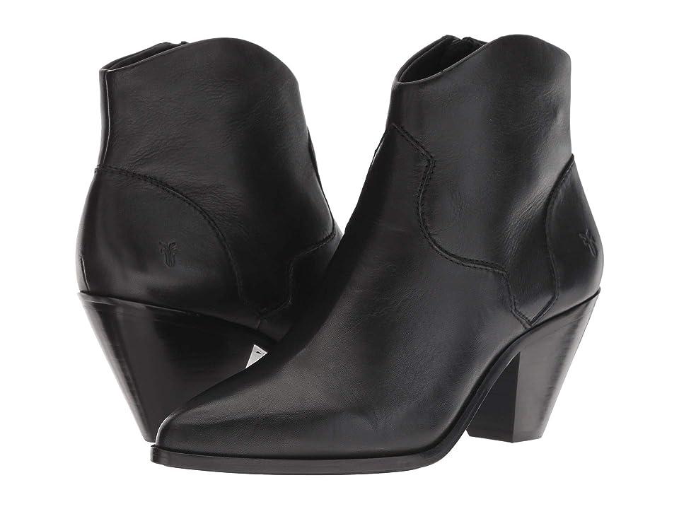 Frye Lila Western Short (Black Polished Soft Full Grain) Cowboy Boots