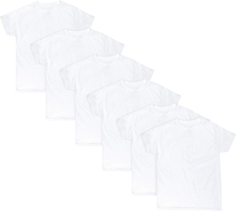 Hanes Boys EcoSmart Crewneck Undershirt 6-Pack