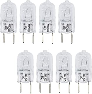 AMI PARTS 8 Pack WB25X10019 20W 120V Halogen Lamp Bulb Replacement Part for GE Microwave.