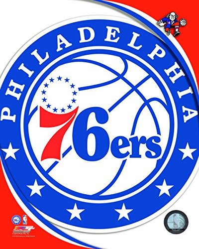 Philadelphia 76ers NBA 8x10 Photograph Team Logo and Basketball