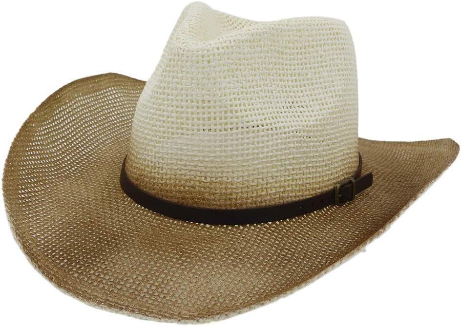 SHAONANSHI Women Men Western Straw Cowboy Ha Fashion Hat Ranking TOP1 low-pricing Sun