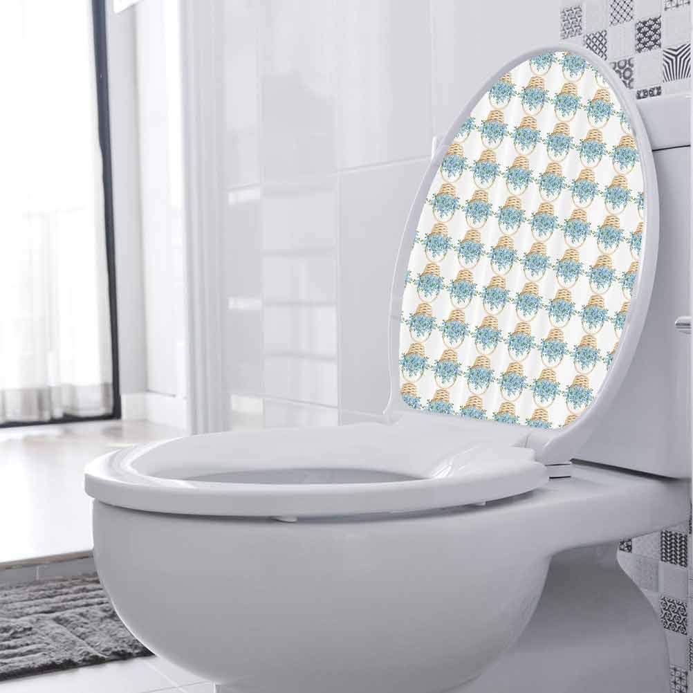 DIY Toilet Seat Sticker Bathroom Toi Wicker Vinyl Topics on TV 5 ☆ popular Basket