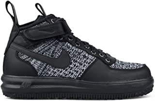 Nike Womens Lf1 Flyknit Workboot Hi Top Boots Trainers 860558 Sneakers (UK 7.5 US 10 EU 42, Black White Cool Grey 001)
