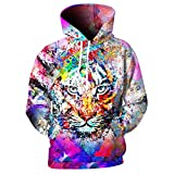 XIELH Sudadera Animal Tiger Print Fashion Hoodies Hombres Sudaderas con Capucha Unisex Jerseys Manga Larga 3D Tops-5XL
