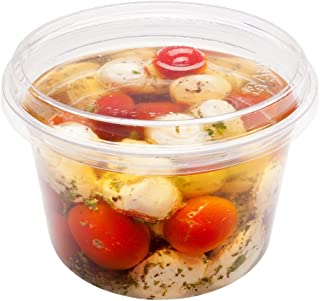 16-OZ PLA Plastic To-Go Container – Clear Round Deli Bowl: Perfect for Catering Events & Restaurant Takeout – Compostable and Biodegradable – 500-CT – Basic Nature Collection – Restaurantware