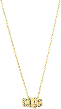 Kate Spade New York - All Tied Up Pave Knot Mini Pendant Necklace