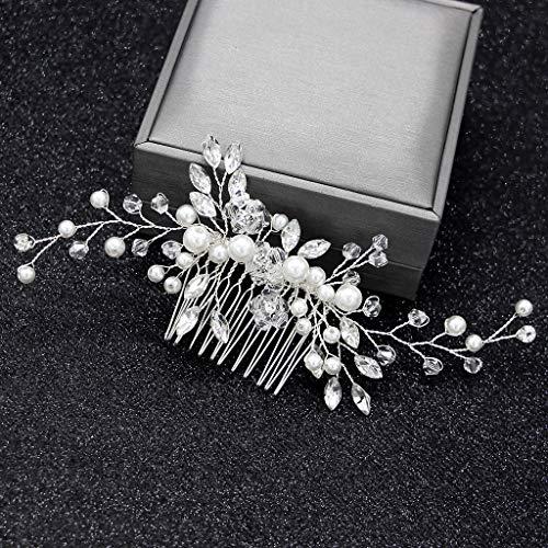 CADANIA Bride Comb Women Pearl Jewelry Ornamenti per Capelli da Sposa Eleganti Copricapo