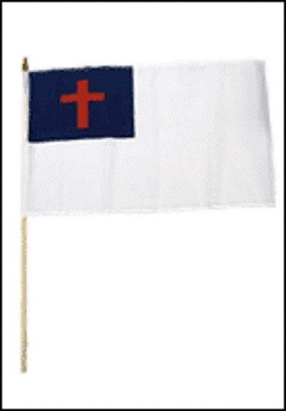 Quality Standard Flags One Dozen Christian Stick Flag 12 By 18