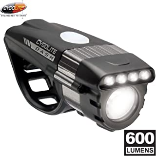 Cygolite Dash Pro- 600 Lumen Bike Light- 5 Night & 3 Daytime Modes- Compact & Durable- IP64 Water Resistant- Sturdy Flexible Mount- for Aero Road & Commuter Bicycles