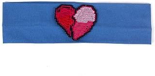 New Woman Solid Cotton Stretch Women Headbands Casual Heartbreak Headwear Hair Bands,Blue